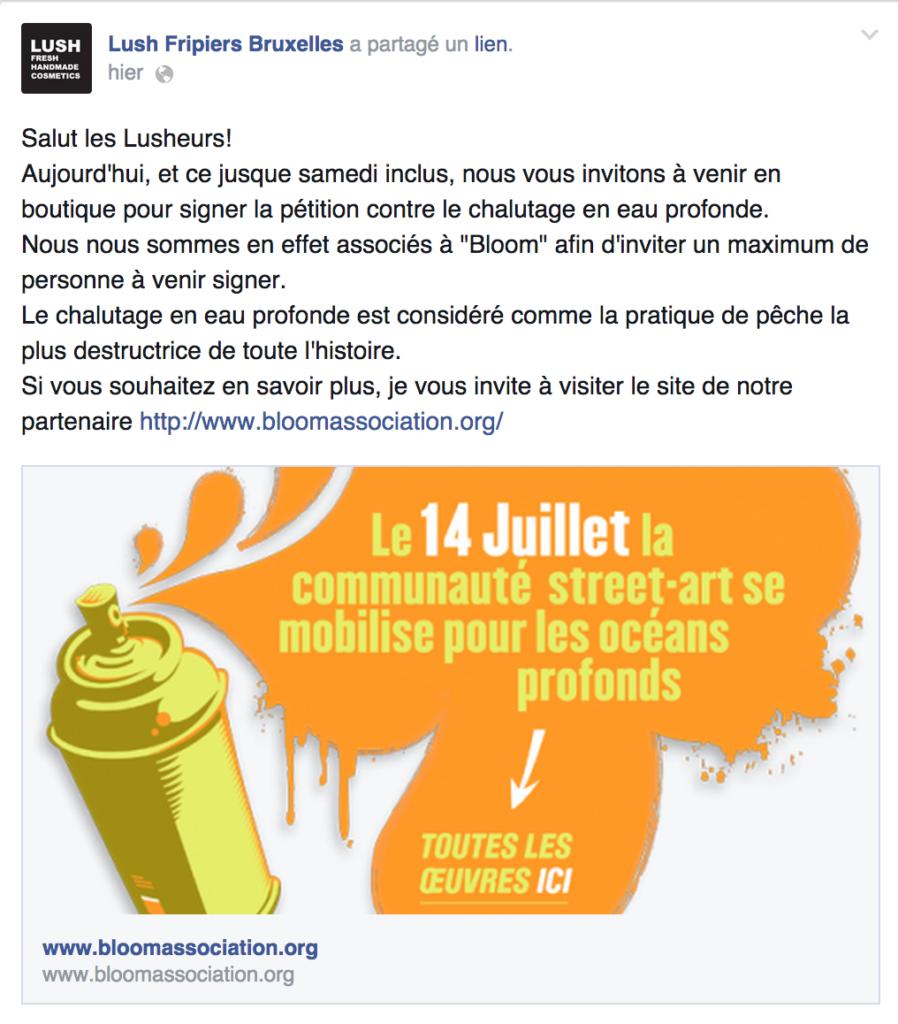 LUSH Belgique Facebook