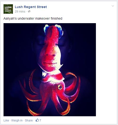 FB lush regent street
