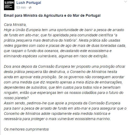 Portugal lettre ministre