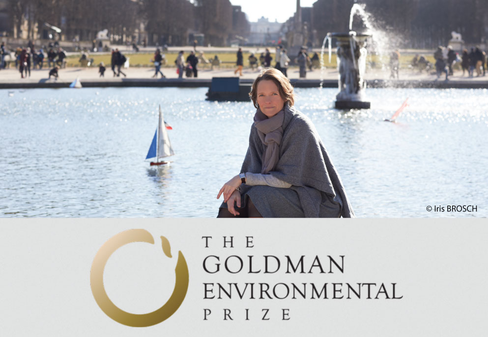 CLAIRE NOUVIAN RECEIVES THE GOLDMAN ENVIRONMENTAL PRIZE