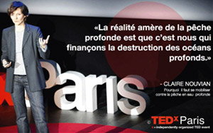 Video: Claire Nouvian at TEDx Paris of march 2013