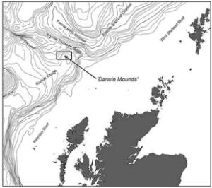 Localisation des Darwin mounds